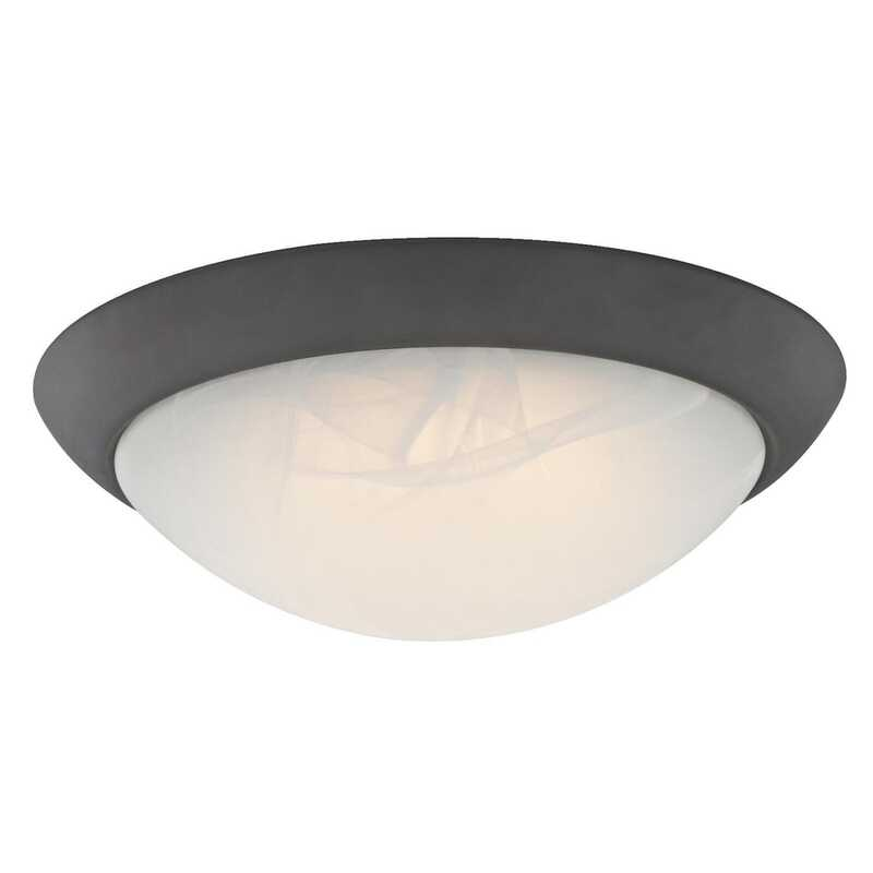 Westinghouse  3.46 in. H x 11 in. W x 11 in. L Oil Rubbed Bronze  Ceiling Light