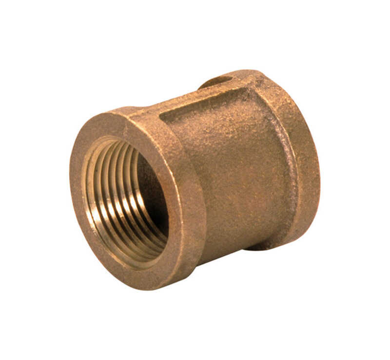 JMF  3/4 in. FPT   x 3/4 in. Dia. FPT  Brass  Coupling