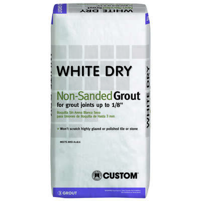 Custom Building Products  Polyblend  Indoor and Outdoor  White  Grout  25 lb.