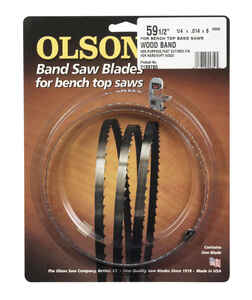 Olson  59.5  L x 0.3 in. W x 0.01 in.  Carbon Steel  Band Saw Blade  6 TPI Hook teeth 1 pk