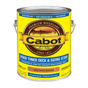 Cabot  Transparent  19205 Pacific Redwood  Oil-Based  Penetrating Oil  Deck and Siding Stain  1 gal.