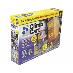 The Climb Cart  37-1/4 in. H x 14-3/4 in. W x 17 in. L Gray/Yellow  Collapsible Climbing Shopping Ca