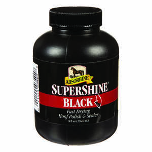 Absorbine  Supershine  Liquid  Black Hoof Polish and Sealer  For Horse 8 oz.