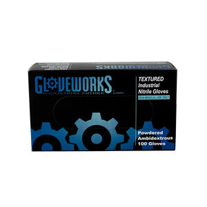 Ammex  Gloveworks  Nitrile  Disposable Gloves  XL  Blue  100 pk