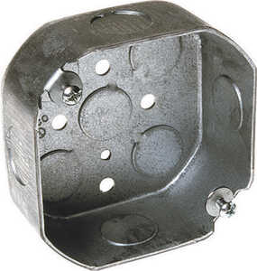 Raco  Octagon  4 in. 1 gang Junction Box  Gray  1 Gang  Steel