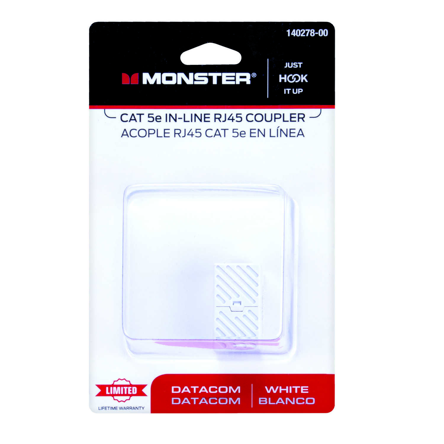Monster Cable  Just Hook It Up  Category 5E  In-Line Coupler