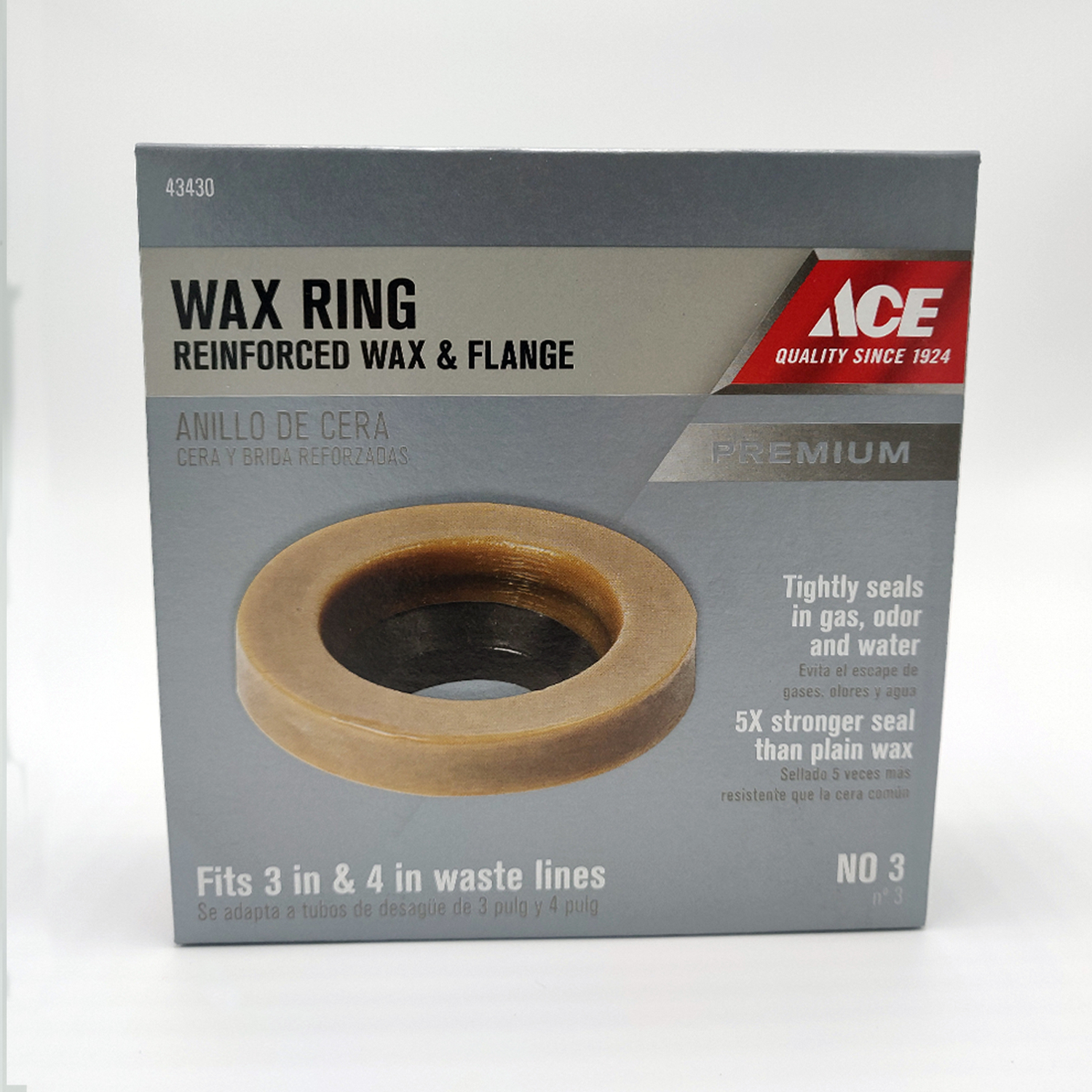 Ace  Wax Ring with Flange  4 OD  3 ID