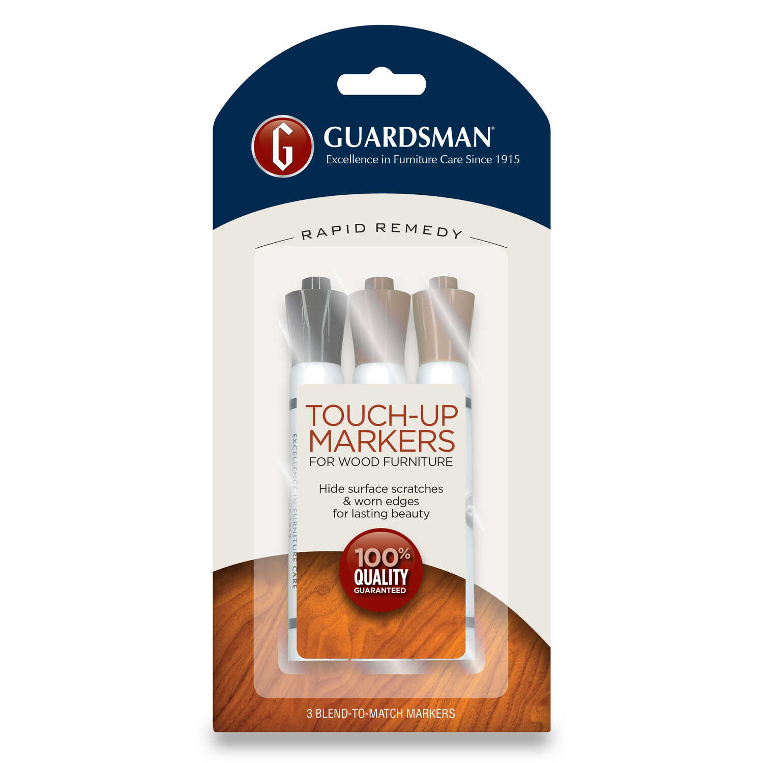 Guardsman  Rapid Remedy  Semi-Transparent  Natural  Brown  Deep  Latex  Wood Furniture Touch-Up Kit