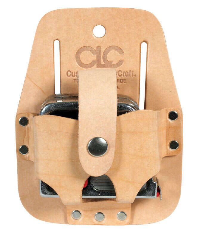 CLC Work Gear  1  Leather  Tape Rule Holder  3.5 in. L x 4.5 in. H Tan