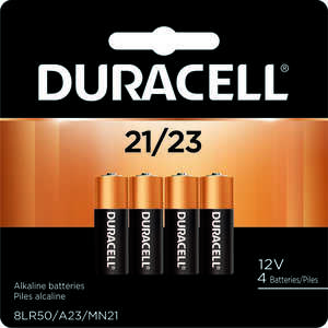 Duracell  12-Volt  12 volt 21/A23  Security Battery  4 pk Alkaline
