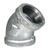 BK Products  1-1/4 in. FPT   x 1-1/4 in. Dia. FPT  Galvanized  Malleable Iron  Elbow