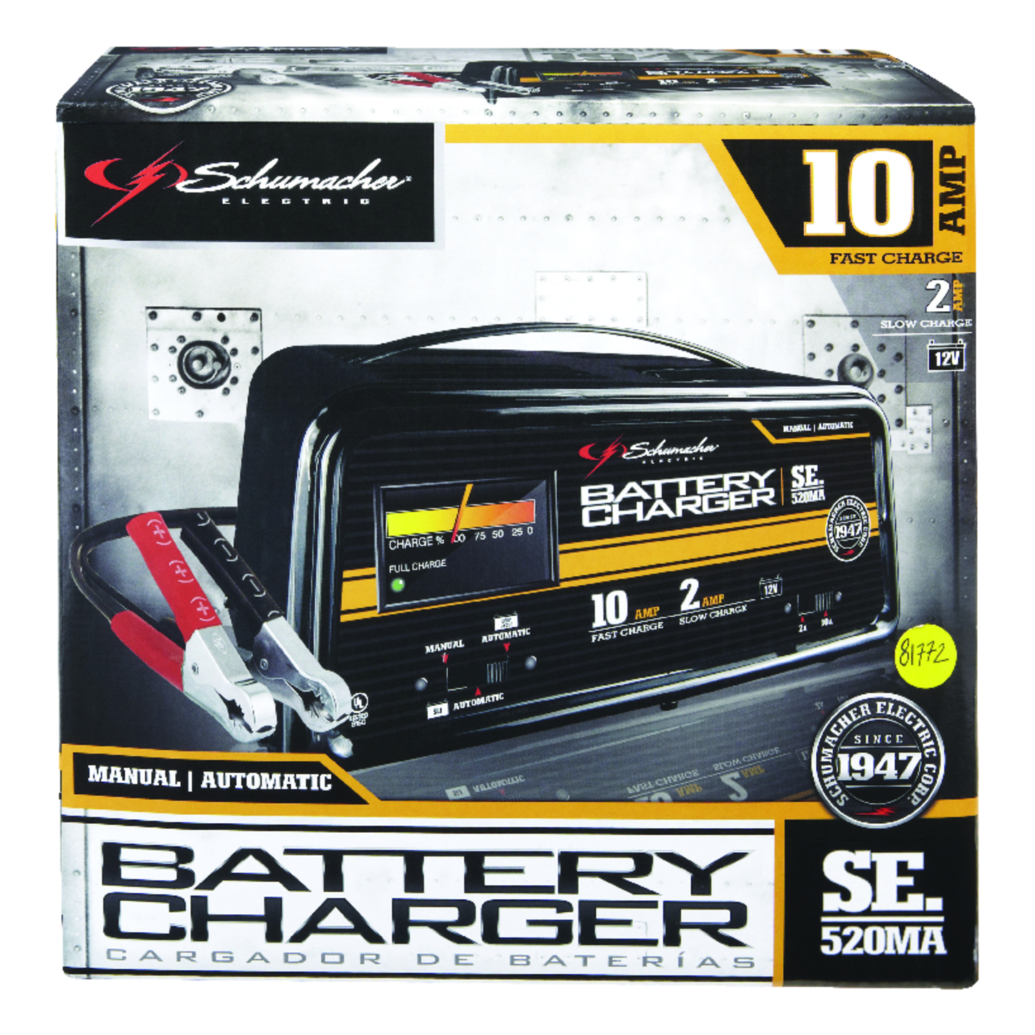 Schumacher  Automatic  12 volts Battery Charger  2/10 amps