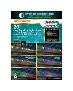 Sylvania  Day by Day  LED  Light Set  Color Changing  11.1 ft. 20 lights