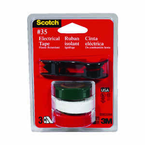Scotch  1/2 in. W x 240 in. L Multicolored  Vinyl  Electrical Tape