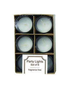 Langley Empire  No Scent White  Party  Candle  4.5 in. H x 3.1 in. Dia.