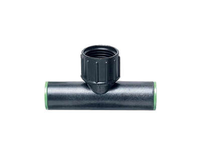 Raindrip  Plastic  Drip Irrigation Swivel Tee Adapter  1 pk