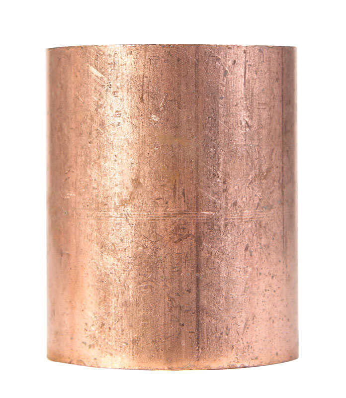 Elkhart  2 in. Sweat   x 2 in. Dia. Sweat  Copper  Coupling with Stop