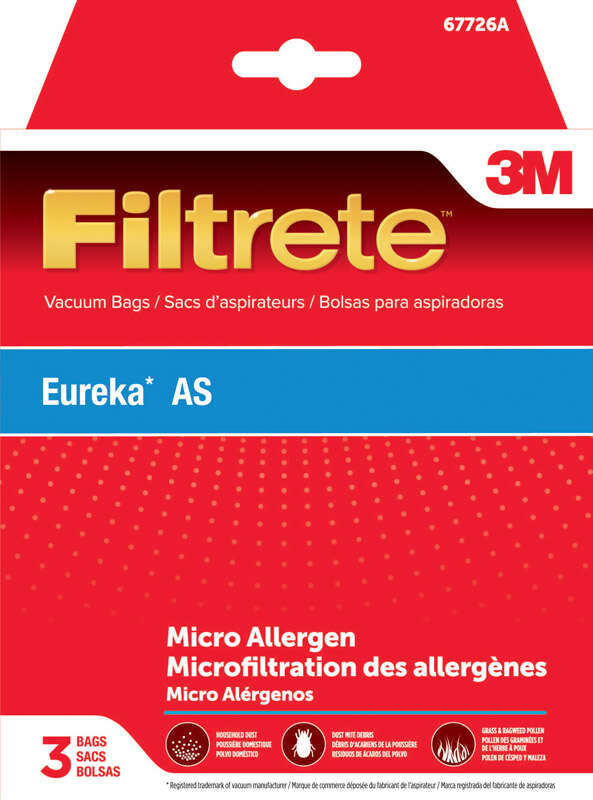 3M  Filtrete  Vacuum Bag  For Eureka AS, Micro Allergen 3 pk