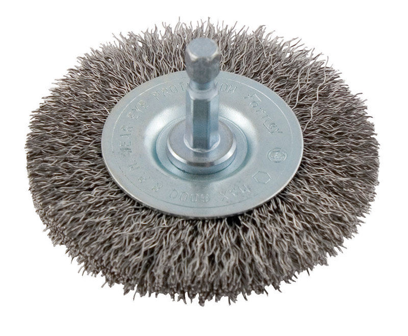 Forney  2-1/2 in. Crimped  Wire Wheel Brush  6000 rpm 1 pc. Metal