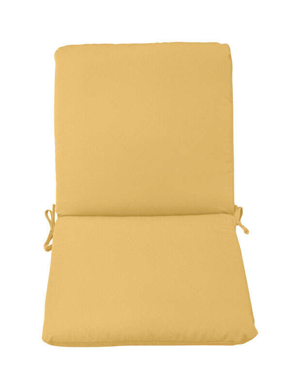 Casual Cushion  Tan  Polyester  Seating Cushion  4 in. 44 in. 22 in.