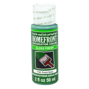 Homefront  Decorator Color  Gloss  Forest Green  Hobby Paint  2 oz. Acrylic Latex