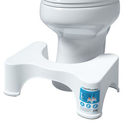Squatty Potty Semi-Gloss White Plastic Toilet Stool