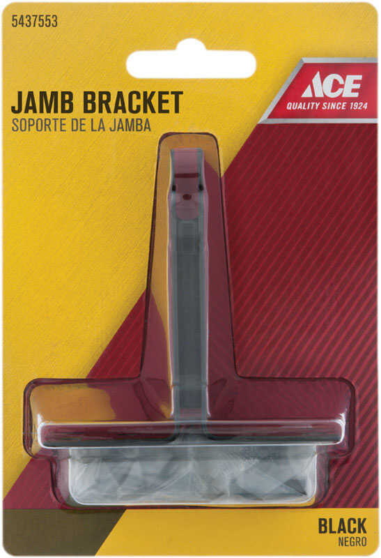 Ace  Black  Black  Steel  Jamb Bracket  1 pc.