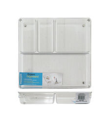 InterDesign  Linus Binz  2 in. H x 12 in. W x 12 in. L Clear  Plastic  Drawer Organizer