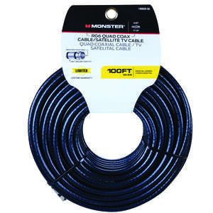 Monster Just Hook It Up  100 ft. Weatherproof Video Coaxial Cable