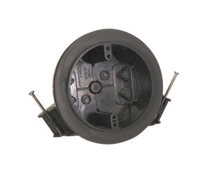 Cantex  3 in. 1 Gang  PVC  Junction Box  Gray  Round