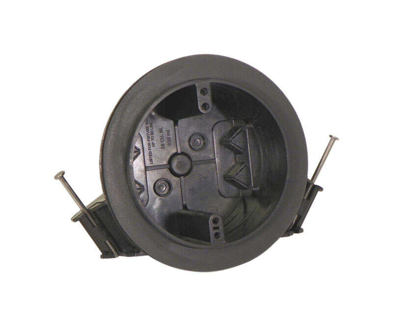 Cantex  3 in. Round  PVC  1 gang Junction Box  Gray