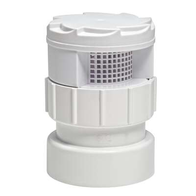 TurboVent  250 Series  Schedule 40  1-1/2 in. Hub   x 2 in. Dia. Hub  PVC  Air Admittance Valve