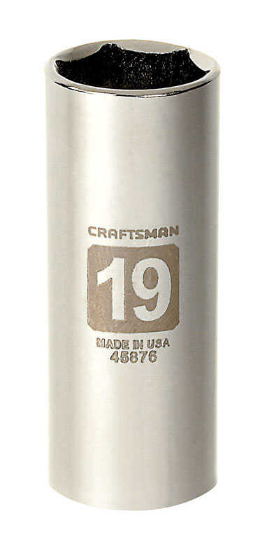 Craftsman  19 mm  x 3/8 in. drive  Metric  6 Point Deep  Socket  1 pc.