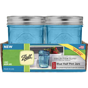 Ball  Collection Elite  Regular Mouth  Canning Jar  8 oz. 4 pk
