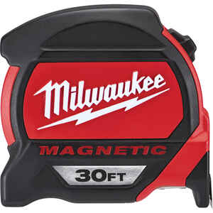 Milwaukee  30 ft. L x 1.83 in. W Premium  Magnetic Tape Measure  Red  1 pc.