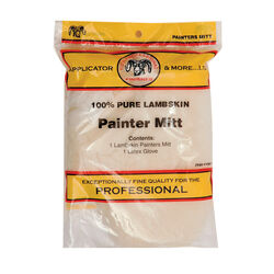 Linzer  7 in. W Yellow  Lambskin  Painter's Mitt