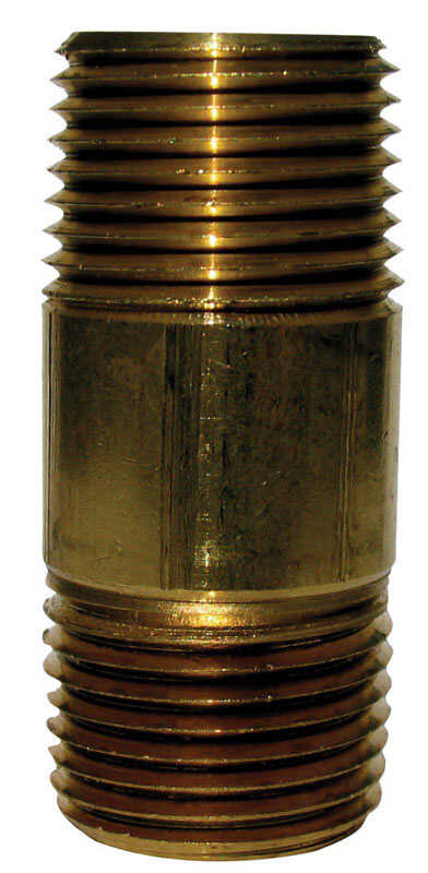 JMF 4 in. 1/4  MPT To MPT  1/4 in. Dia. Brass  Pipe Nipple