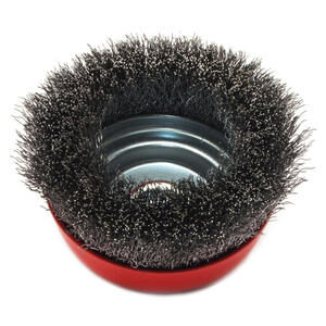 Forney  5 in. Dia. x 5/8 in.  Crimped  Steel  Cup Brush  8000 rpm 1 pc.