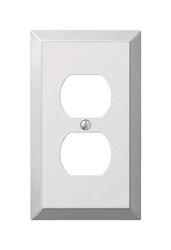 Amerelle  Century  Polished Chrome  1 gang Stamped Steel  Duplex Outlet  Wall Plate  1 pk