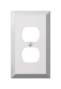 Amerelle  1 gang Duplex Outlet  Wall Plate  Stamped Steel  1 pk