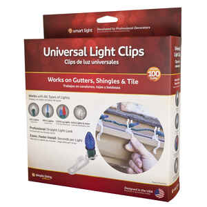 Simple Living  Universal  Light Clips  White  Polypropylene  100 pk