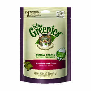 Greenies  Succulent Beef  Cat  Treats  1 pk 2.5 oz.