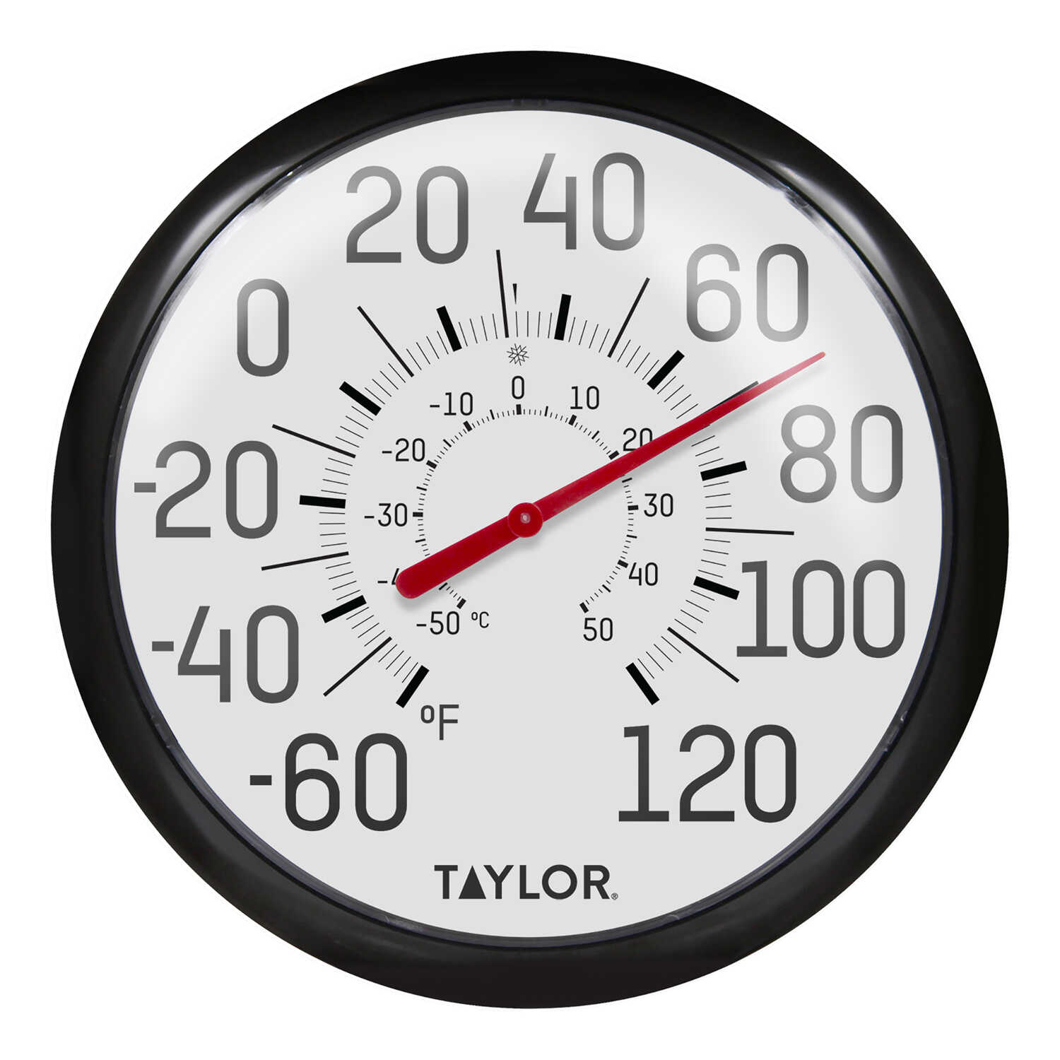 Taylor  Decorative  Dial Thermometer  Plastic  White