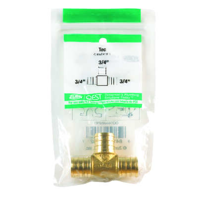 SharkBite 3/4 in. PEX x 3/4 in. Dia. PEX Brass Tee