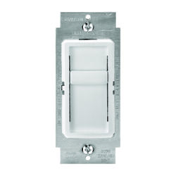 Leviton  Decora SureSlide  White  600 watt Slide  Dimmer Switch  1 pk