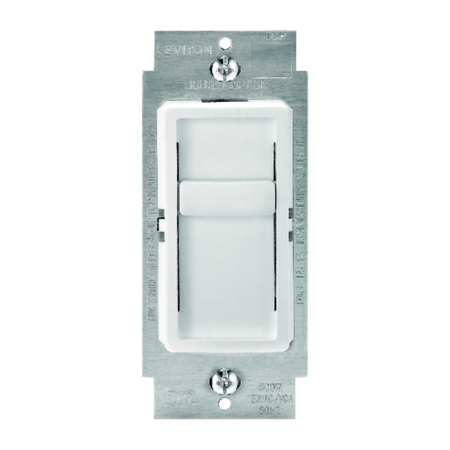 Leviton  SureSlide  White  150 watts Slide  Dimmer Switch  1 pk