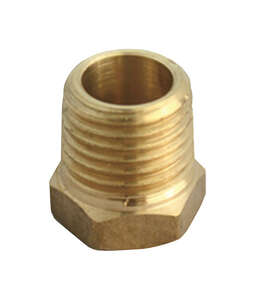 JMF  3/4 in. Dia. x 1/8 in. Dia. MIP To FIP  Yellow Brass  Hex Bushing