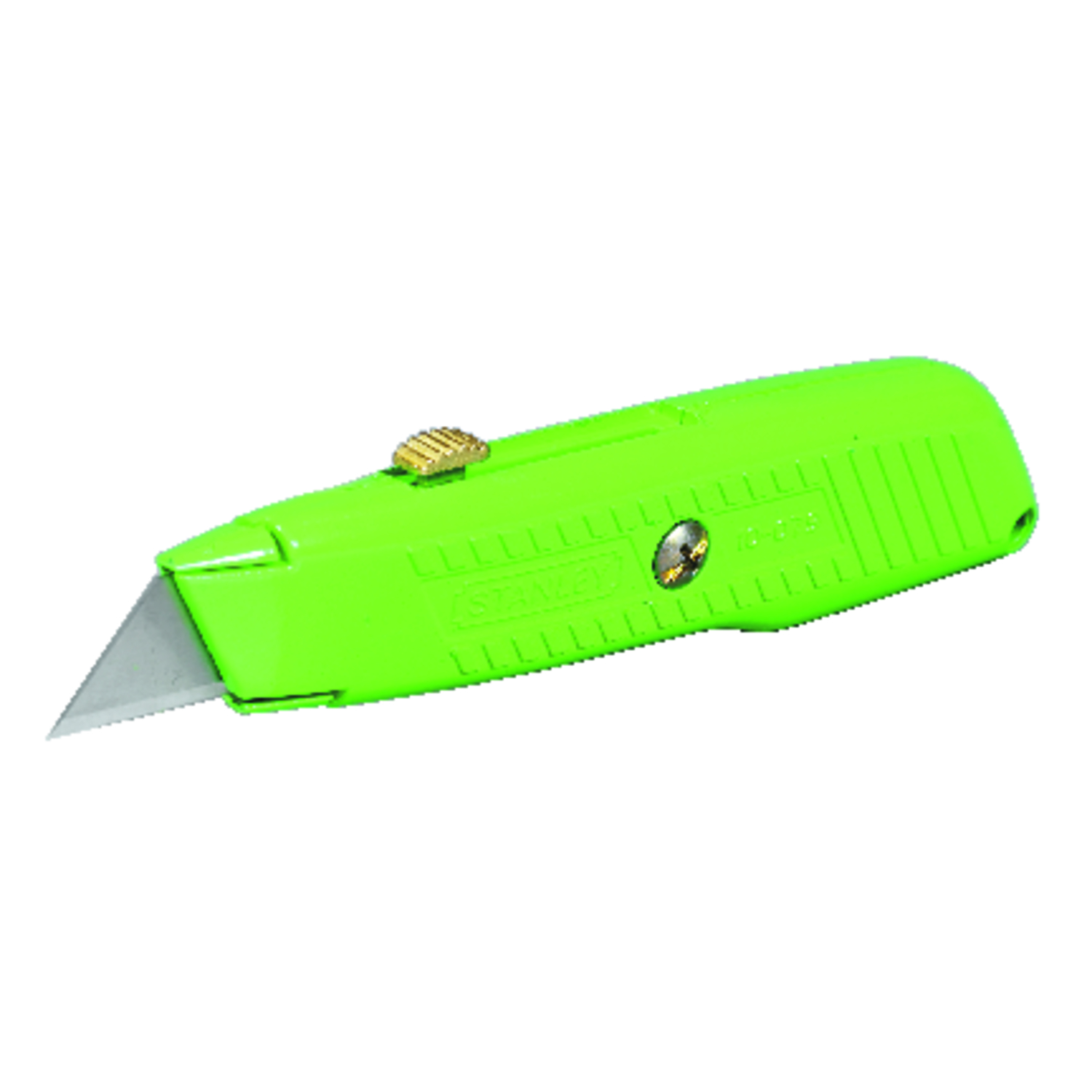 Stanley  High Visibility  5-7/8 in. Retractable  Green  1 pc. Utility Knife