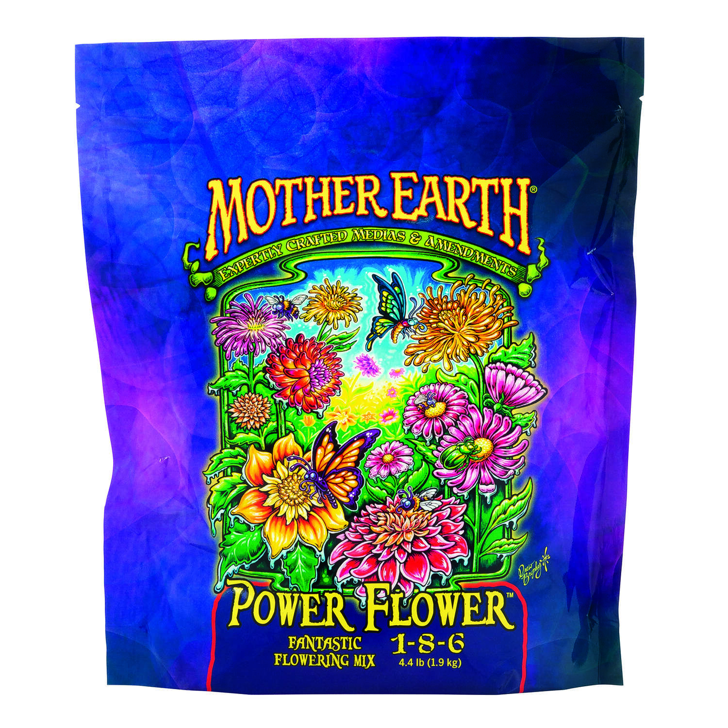 Mother Earth  Power Flower Fantastic Flowering Mix 1-8-6  Hydroponic Plant Supplement  4.4 lb.