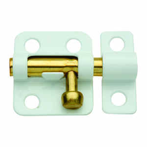 National Hardware  White  Steel  Window Bolt  2 in. L 1 pk